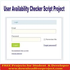 Free User Availability Checker Script In PHP Projects Download