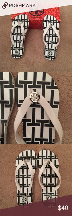Tory Burch T Basket Flip Flops % authentic Tory Burch T-Basket Flip Flops NWT. Never Been  Worn Tory Burch Shoes Sandals