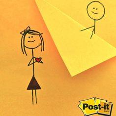 Sorprende con un detalle inesperado, Post it te ayuda a dejar volar tu imaginación en un día cualquiera