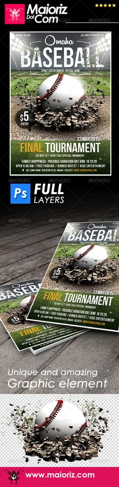 Baseball League Flyer Template Baseball league, Flyer template - sports flyer template