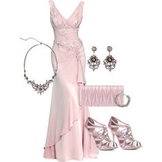 A fashion look from December 2012 featuring high heel shoes, Miu Miu and earring jewelry. Browse and shop related looks. Royal Dresses, Pink Gowns, Pink Dress, Dress Up, Elegant Dresses, Nice Dresses, Dress Outfits, Fashion Dresses, Moda Fashion