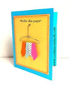 Tarjetas para el dia del padre-Paso a paso -DIY Daddy Day, Paper Crafts For Kids, Important Dates, Xmas Cards, Fathers Day, Projects To Try, Diy, Gift Wrapping, Invitations