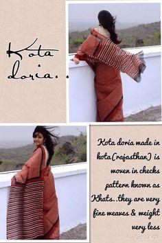 Kota cotton woven sanganer print sari Indian Fabric, Indian Textiles, Indian Clothes, Indian Outfits, Handloom Saree, Silk Sarees, India Fashion, Women's Fashion, Fashion Terminology