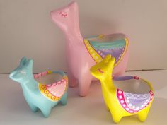 Llamas, Acrylic Art, Clay Crafts, Pottery Art, Cactus, Flowers, Inspiration, Kid Art, Clays