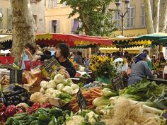 Market Day in Aix in Provance-One of the best markets  South of France
