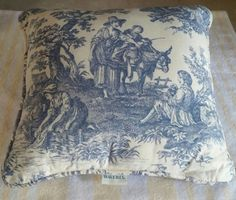 Complete Throw Pillow #Waverly Country Life Toile Blue. Twenty. See more at SherriesLuckyQualityFinds.com