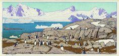 Gentoo Penguins  by Toshi Yoshida, 1977