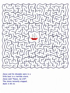 Jesus Calms the Storm Maze
