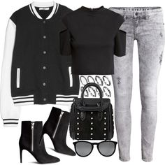 Untitled #3077 by amylal on Polyvore featuring H&M, MANGO, Alexander McQueen and Ray-Ban