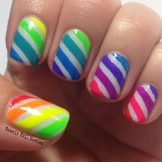 Neon Stripes using Indigo Bananas