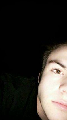He is brown eyes