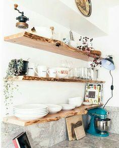 prateleira rústica para cozinha - apartamento 607