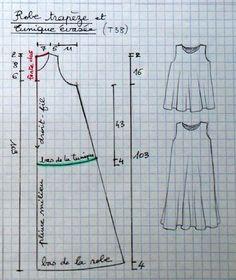 robe trapeze, tunique evasée: