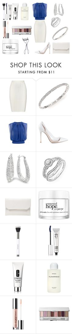"""""""Без названия #4207"""" by southerncomfort ❤ liked on Polyvore featuring Hervé Léger, Adriana Orsini, Gianvito Rossi, Amanda Rose Collection, BCBGMAXAZRIA, philosophy, Sonia Kashuk, Eyeko, Clinique and Byredo"""