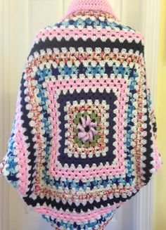 Crochet Granny Square Cocoon Sweater by HandmadebyHeikeHeart