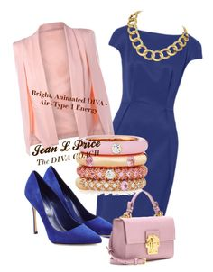Bright, Animated DIVA~Air~Type 1 by jeanlprice on Polyvore featuring polyvore fashion style Sergio Rossi Dolce&Gabbana Adolfo Courrier House of Harlow 1960 clothing