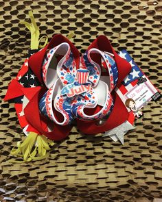 Boutique bow 4 of july Boutique Bows, 4th Of July Wreath, Baby Shoes, Ribbon, Kids, Decor, Fashion, Tape, Young Children