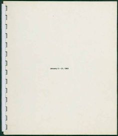 Open Lecture Art History: Axel Wieder on the Book as Medium of Art –'January 5–31, 1969', exhibition organised by Seth Sieglaub