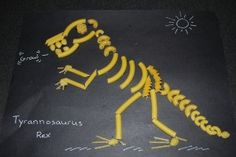 pasta dinosaur skeleton Tyrannosaurus Rex To be used with Saint-Saens Carnival of the animals unit.