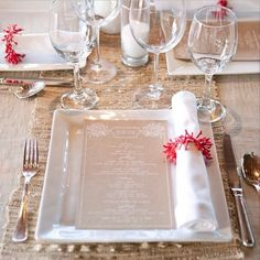 Love this...rehearsal - sea grass runners on top of sand colored linen with coral napkin ring