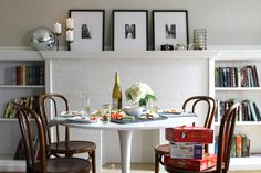 Tulip table + bentwood chairs