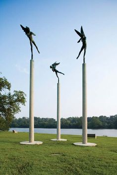 Playing Angels by Carl Miles. Download Museum Without Walls for more information and self guided tours of Philadelphia's public art found along the Benjamin Franklin Parkway and Kelly Drive. (Photo: Association for Public Art)