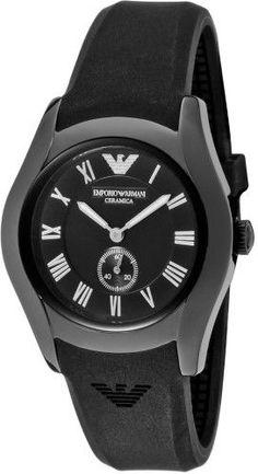 Emporio Armani Black Ceramic Chronograph Ladies Watch AR1432
