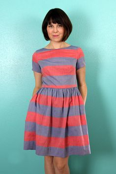 Big Stripe Emery Dress - Dixie DIY