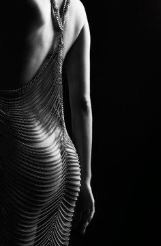 Chain lingerie dress.