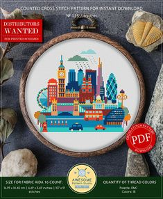 This is modern cross-stitch pattern of London for instant download. A cool tip to decorate your living room. You will get 5-pages PDF file, which includes: - main picture for your reference; - colorful scheme for cross-stitch; - list of DMC thread colors (instruction and key