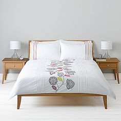 Dunelm duck egg cow parsley collection duvet cover for John lewis bedroom ideas