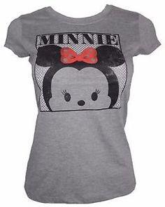 5ac1bf3df1 Disney women junior DISTRESSED MINNIE Mouse tsum tsum print t shirt Theme  Park