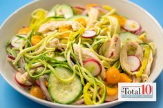 Total 10 Mediterranean Bowl: Reap the benefits of a heart-healthy cuisine with this delicious bowl! **These all look really good - and from Dr. Mediterranean Bowls, Mediterranean Diet Recipes, Italian Bowl, Clean Eating, Healthy Eating, Eating Light, Get Thin, Cooking Recipes, Healthy Recipes