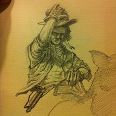 #my #sketch ( #western #cowboy #horse #pencil #illustration ) from: studiomsv.tumblr....