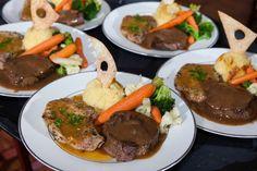 Delicious dinner at wedding reception | David De Dios Photography | villasiena.cc