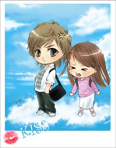 Here's a cute anime picture of one of my all time favourite Taiwanese dramas! It Started With A Kiss!! <3 I can't believe my sisters and I just finished this drama again!