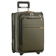 Carry-on Luggage Collections | Briggs  Riley 22 Inch Carry On Upright Garment Bag Black Olive Green -- To view further for this item, visit the image link. Note:It is Affiliate Link to Amazon. #TheBestCarryonLuggage