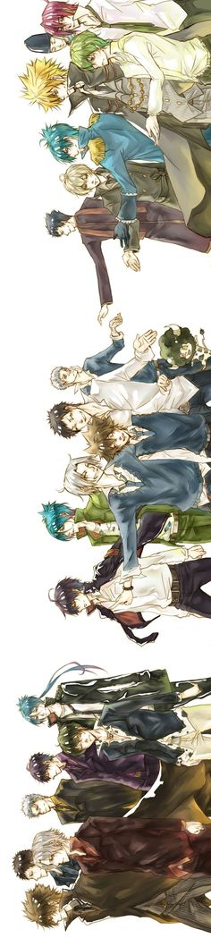 Katekyo Hitman Reborn - First and Tenth Generation Vongola Hitman Reborn, Reborn Katekyo Hitman, Manga Anime, Anime Art, Hot Anime Guys, Anime Love, Reborn Anime, Fan Art, Awesome Anime