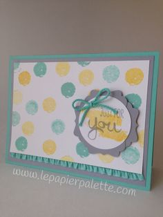 Just For You, Stampin Up Work of Art Stamp Set, by lepapierpalette