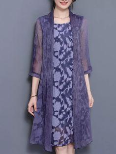 311507eb9 Hot saleChiffon Women Elegant Fake Two Pieces Print Dresses Cheap - NewChic  Mobile Moda Para Niñas