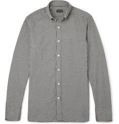 Tom Ford - Slim-Fit Checked Cotton Shirt|MR PORTER