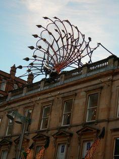 Art Nouveau Peacock on Princes Square Shopping Center in Buchanan Street, Glasgow