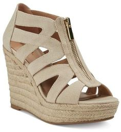 b14598d60da Women s Ruth Canvas Zipper Wedge Espadrille Sandals  casual styles Care  Taupe Sandals