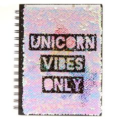 Unicorn Reverse Sequin Notebook