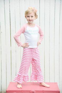 Millie Chevron Knit Capri - Pink