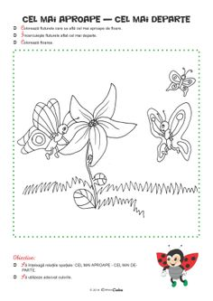 Fise de Lucru - Editura Caba - Carti, caiete de lucru, materiale didactice Preschool Worksheets, Projects For Kids, Montessori, Coloring Pages, Activities, Teaching, Education, Paper, Insects