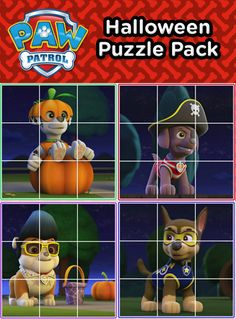 Paw Patrol Halloween Puzzle Pack! A spooktacular holiday activity for preschoolers!