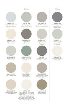Paint color and color palette ideas.