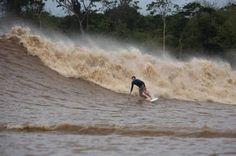 Pororoca surfing - Marajó Island, Pará