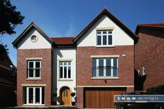 front view of property -  Meols Drive, Hoylake. Adjacent to the @RLGCHoylake #RLGC for @The_Open #TheOpen Contemporary Self Build Properties - RIBA architects based in Liverpool, Wirral, Merseyside